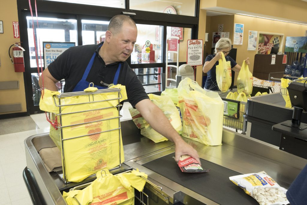 Rep Fishbein Bags Groceries For Charity