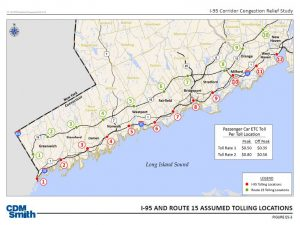 Ct Dot Proposed Tolling Locations Throughout Connecticut