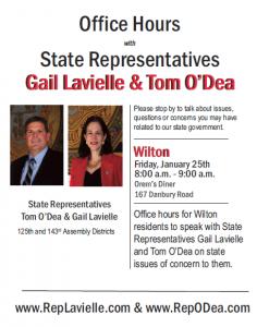 Wilton Office Hours flyer