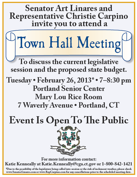 Carpino Linares To Hold Portland Town Hall Meeting On