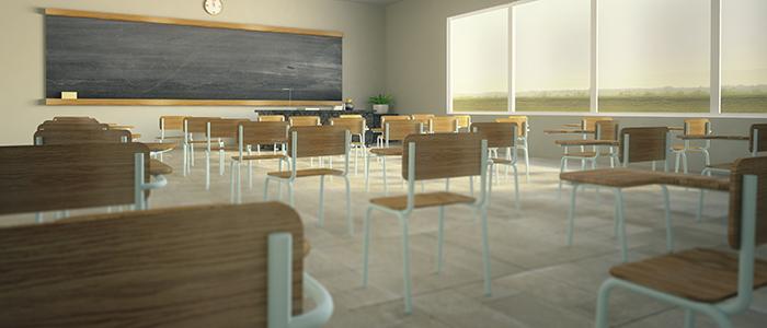 empty classroom slider